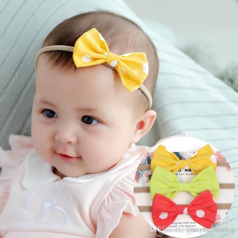 99e159c9f06 Baby Headbands Big Bow Bunny Ear Elastic Headband Children Hair Accessories  Cute Hairbands For Girls Nylon Bow Headwear Headdress KHA612 Hair  Accessories ...