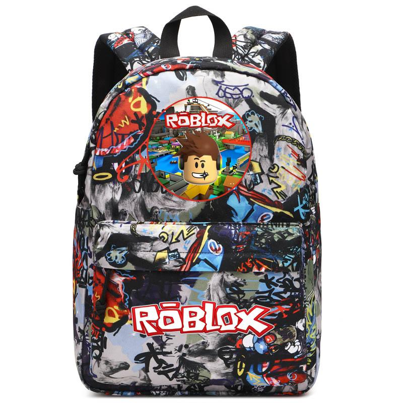 c30c09210d Roblox Unisex Graffiti School Backpack Laptop Bag Traveling Daypack Boy  Girl Student School Bag Rucksack Jansport Backpacks From Swiscafe, $46.91   DHgate.