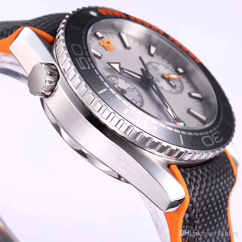 Clásico diseñador de relojes para hombre cronógrafo luminoso VK Japón cuarzo hombre reloj de lujo reloj profesional 007 relojes de pulsera