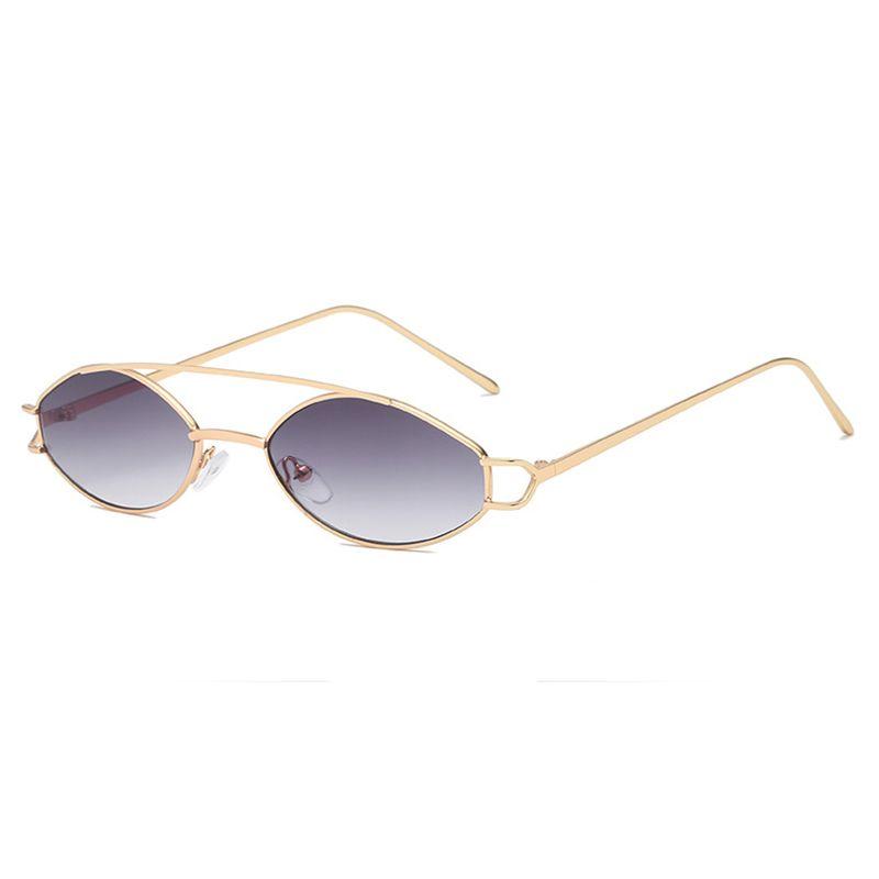 999e6ffe68be New 2019 Fashion Trend Women Oval Sunglasses Vintage Thin Frame Double Beam  Metal Spectacles Sea Lens Oculos Feminino UV400 H5 Sunglasses Eyeglasses  From ...