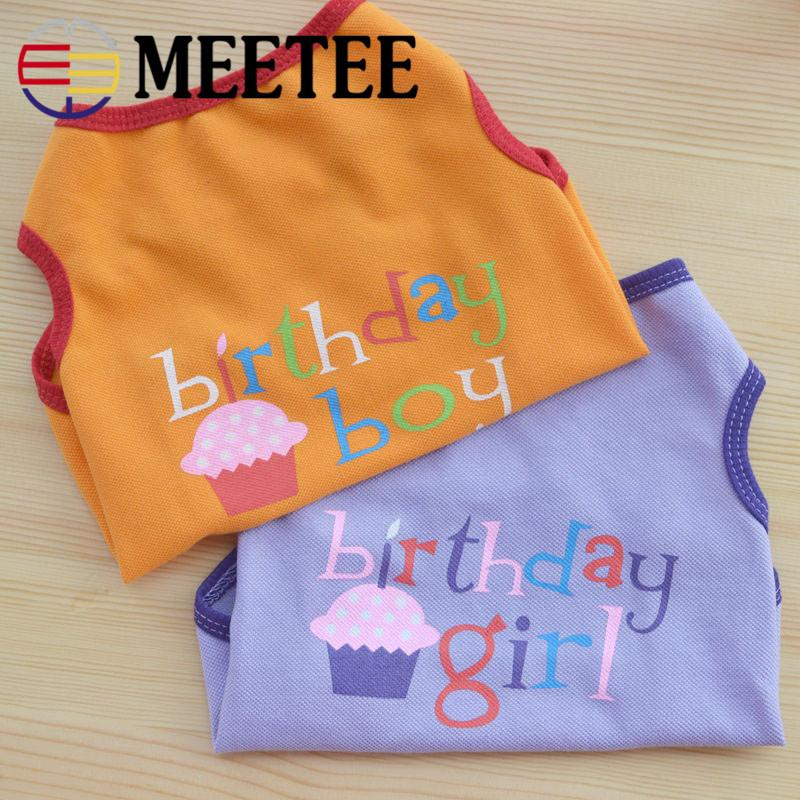 Meetee All Sizes Multicolor Soft Cotton Cute Dog Clothes Poodle T-shirt fit Dog Cat small animals Bithday suit for pet DC-515