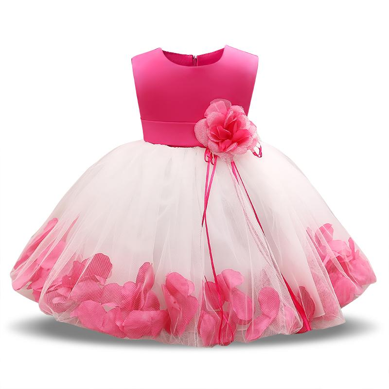 9b469d5a6 2019 Flower Baby 1st 2nd Birthday Outfit Dress Newborn Baby Girl Baptism  Clothes Tutu Christening Wedding Gown Infant Party Dresses From Luckyno, ...
