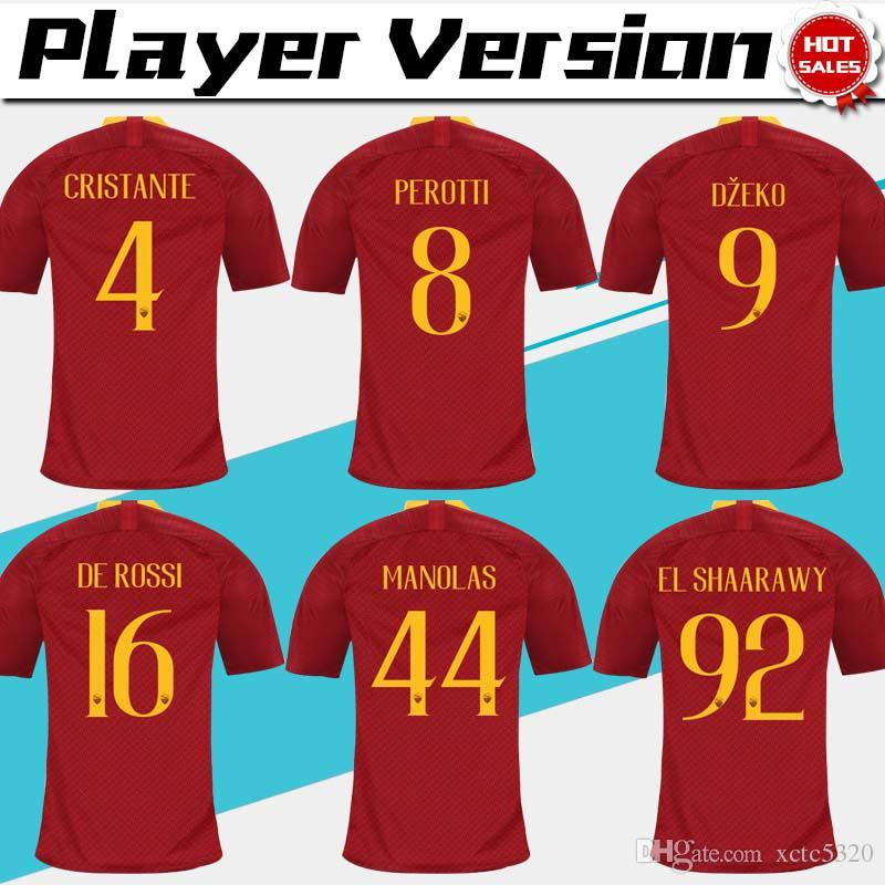 c3aa6a514 ... authentic 2018 player version 10 totti roma home red soccer jersey 18  19 de rossi a.s.