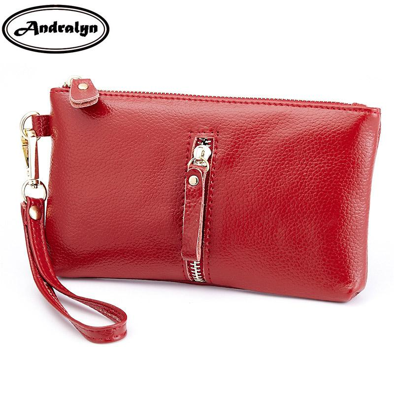 802c5f395253 Andralyn Women Wallets Fashion Big Capacity Female Genuine Leather Long  Clutch Handbag Gift Cards Coin Purse With Hand Strap Handbags Brands Luxury  Handbags ...