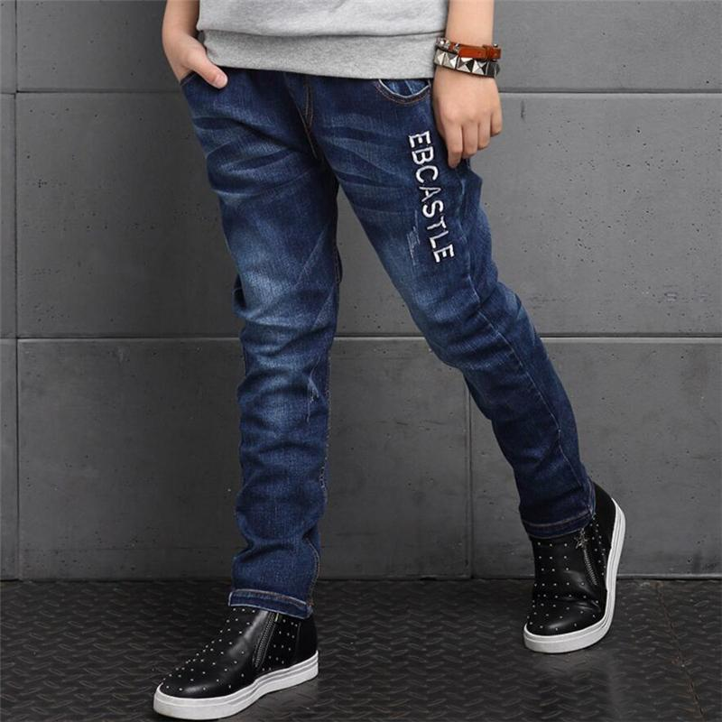 2018 Children's jeans, Spring children's clothing stitching boy jeans, for big kids boys jeans long trousers 5 7 8 10 12 14 age