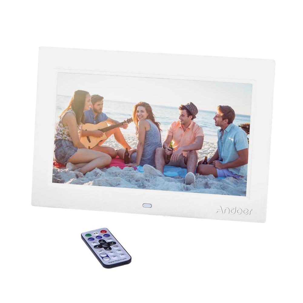10'' HD Digital Photo Frame TFT-LCD 1024*600 Picture Frame Alarm Clock MP3  MP4 Movie Player with Remote Desktop