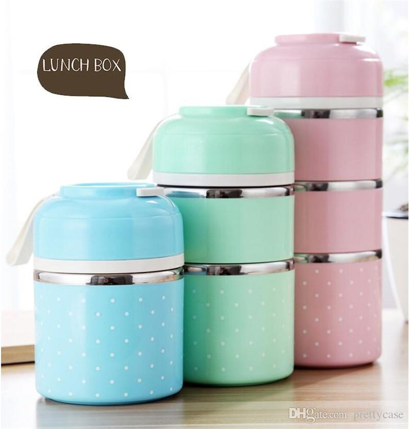 Cute Lunch Box Japanese Bento Box Leak Proof Stainless Steel Lunch