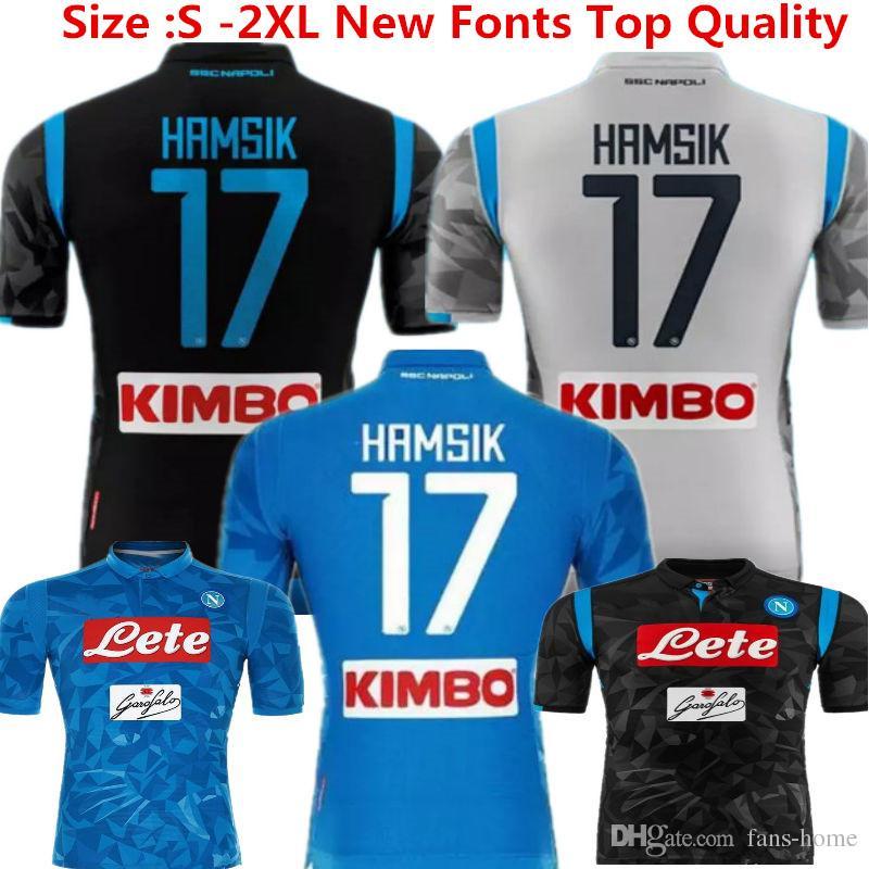 Jersey De Fútbol Napoli Camisetas De Fútbol Nápoles Uniforme Da Calcio 18  19 Hamsik Insigne Mertens Callejon Maradona Inicio Blue Custom Serie A Kits  Por ... a19c26c8433ca