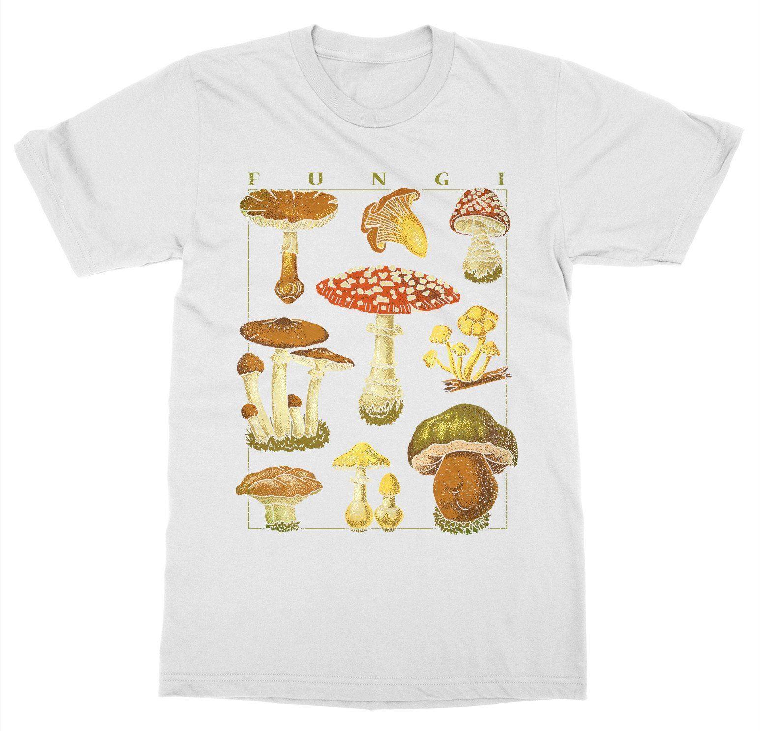 e1ff118b7 Short Sleeve For Men Clothing Summer Mushrooms T Shirt Funghi Fungus  Botanical Garden Plant Print Art Fruit Flower Tee Shirt That T Shirt But T  Shirts From ...