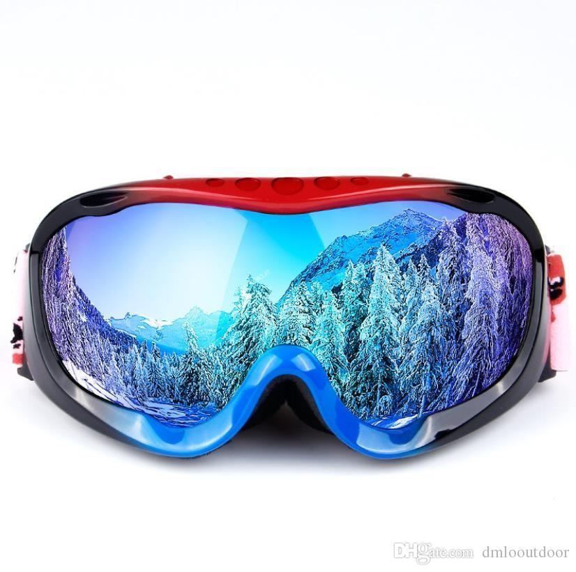 100% True Ski Goggles Durable Anti Fog Riding Snow Mountain Antifogging 3 Colors Snowmobiling Wind Mirror Goggles 2018 Uv Protection Cheap Sales Skiing Eyewear