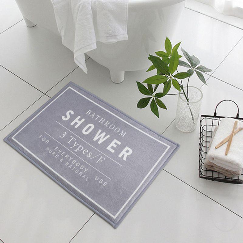 Best Bath Shower Mats 60*40cm Bathroom Rug Non Slip Bath Mat Carpet Home  Toilet Decor Flannel Sponge Material Black Gray White Under $6.64 |  Dhgate.Com