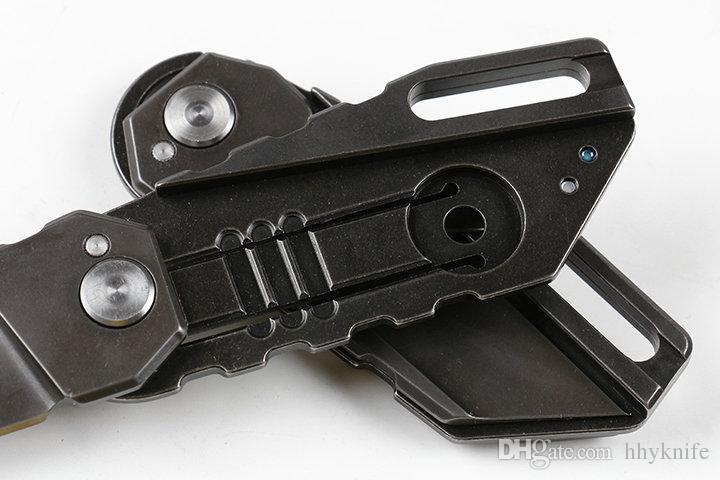 New Arrival Folding Knife M390 Black Titanium Coated Blade CNC TC4 Titanium Handle EDC Pocket Folding Knives
