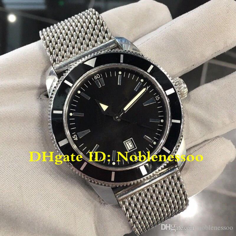 2 Color Luxury Mens SuperOcean Heritage 46 Black Dial A17320 46mm BF327081 Wristwatch Steel Asia 2813 Automatic Men's Watches Sport Watch