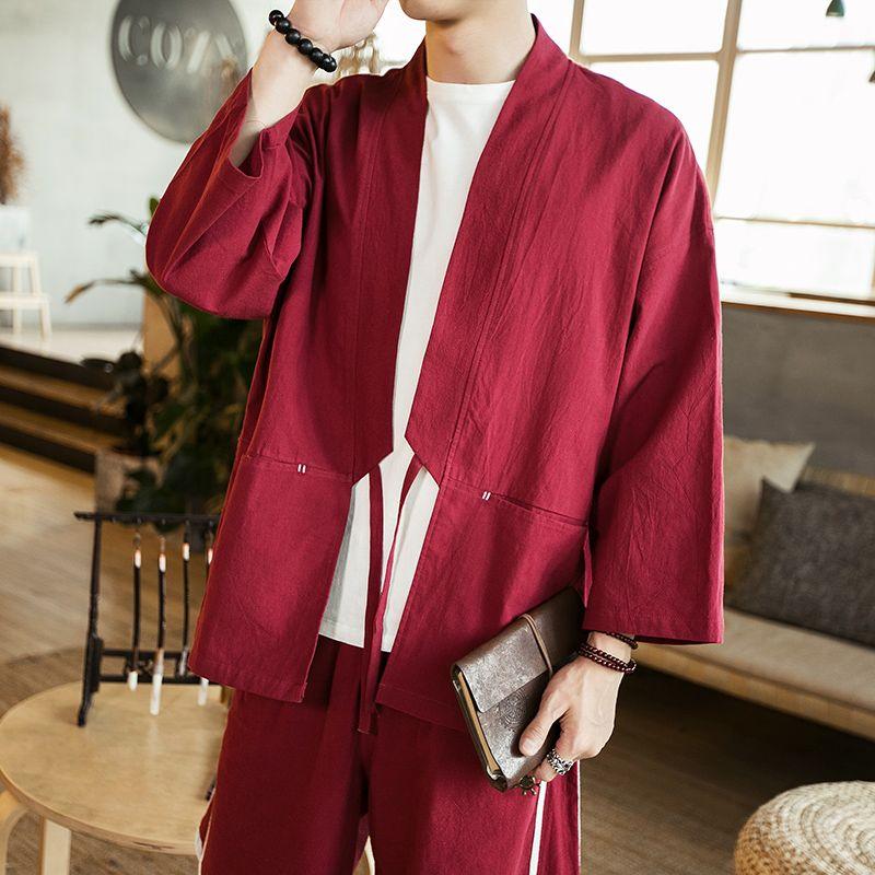 Casual Shirts Men's Clothing Streetwear Men Chinese Style Print Loose Short Sleeve Shirt Cardigan Coat Male Fashion Hip Hop Casual Kimono Shirt Jacket