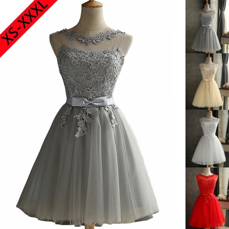 72ec7d7f0ce5 Acquista Vestito Da Sera Elegante In Pizzo Da Donna Elegante Al 100% Vestito  Da Cerimonia