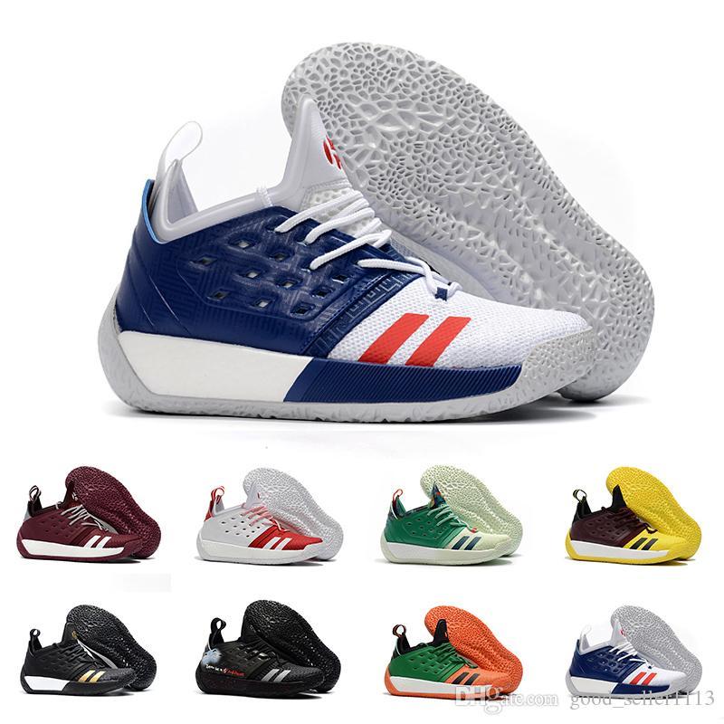 new arrival 9622e ed8d2 Acheter Vente Chaude Harden Vol.2 Hommes Chaussures De Basket Ball Beaucoup  Couleur Noir Blanc Rouge Vert Orange Bleu Gris Brun Vin Sports Sneakers  Taille ...