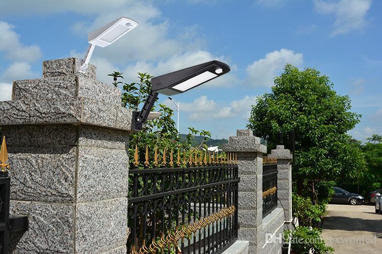 Adjustable Solar Lights Waterproof 48 LED Solar Wall Light Landscape Light Security Lighting PIR Motion Sensing for Patio Deck Yard Garden