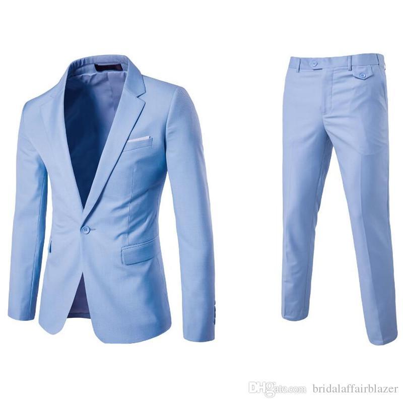 f066f01947 (Jacket+Pant+Vest) Luxury Men Wedding Suit Male Blazers Slim Fit Suits For  Men Costume Business Formal Party Blue Classic Black Blazers