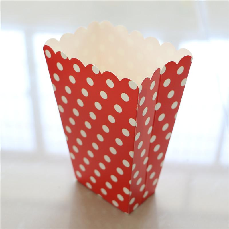 Red Baby Party Kids Favors Wedding Polka Dot Pattern Popcorn Cups Happy Birthday Gift Box Candy Boxes Decoration Supplies Bags For Christmas