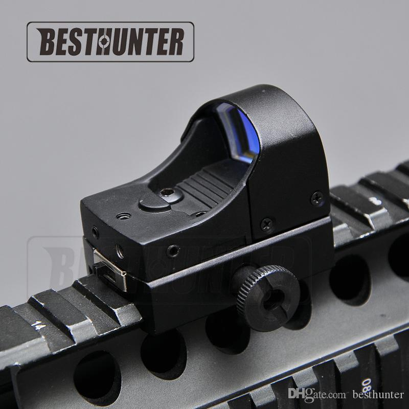 Tactical Holographic Red Dot Sight Compact Holographic Reflex Micro Red Dot Sight Scope For Sniper Hunting Rifle