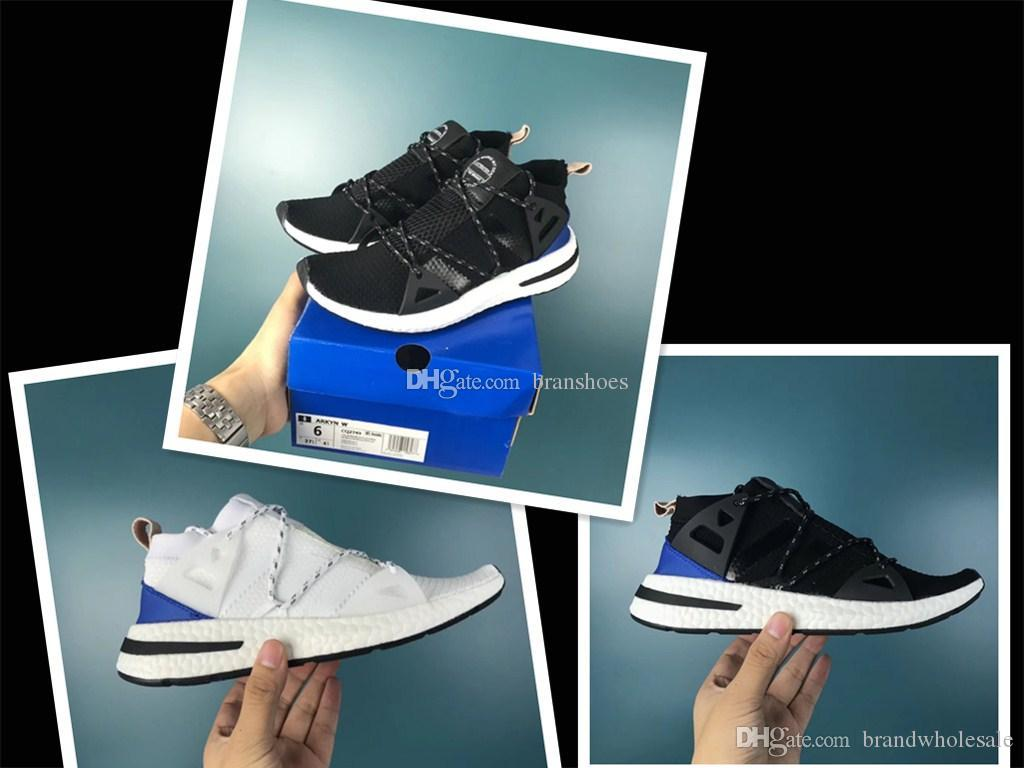 db351e0acba Compre Otoño Invierno ARKYN Ash Pearl Primeknit Mujer Hombre Zapatos Para  Correr Diseñador De Moda Chaussures Zapatillas De Deporte Zapatillas De  Deporte De ...