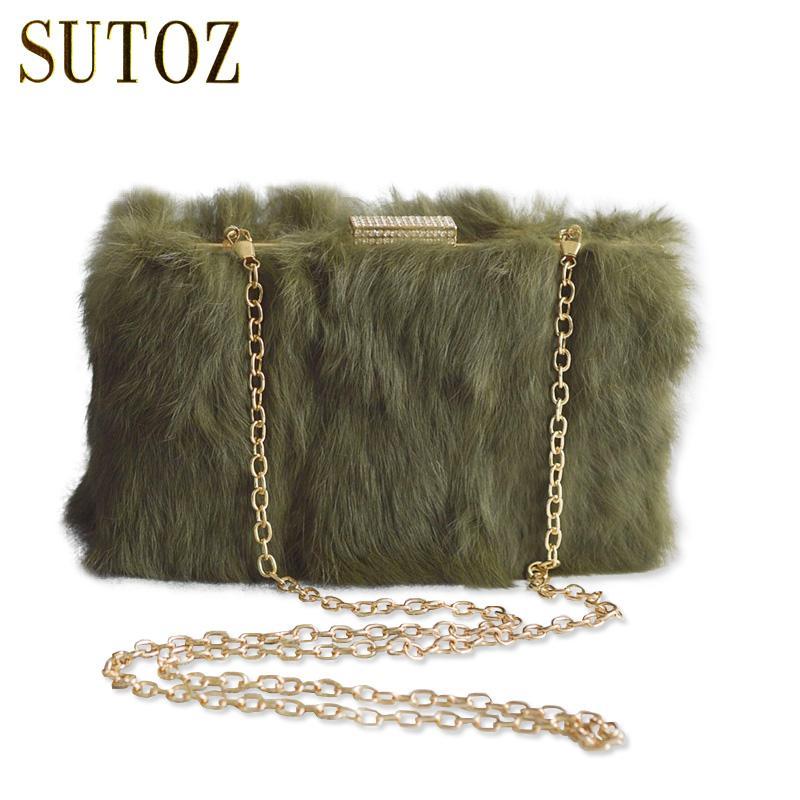 Lady Luxury Designer Rabbit Fur Evening Bags Clutch Women S Pouch Shoulder  Messenger Flaps Handbag Wedding Female Purse BA367 Latest Handbags Handbags  ... 8d481906d