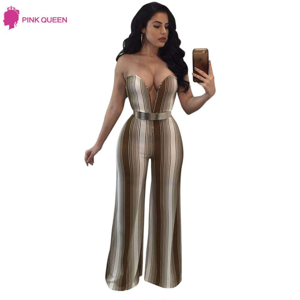 a97bef89863 2019 Pinkqueen Rompers Womens Strapless Jumpsuit Cut Pants Rayon Milk Silk  Ladies Wide Leg V Neck Jumpsuit With Belt From Stepheen
