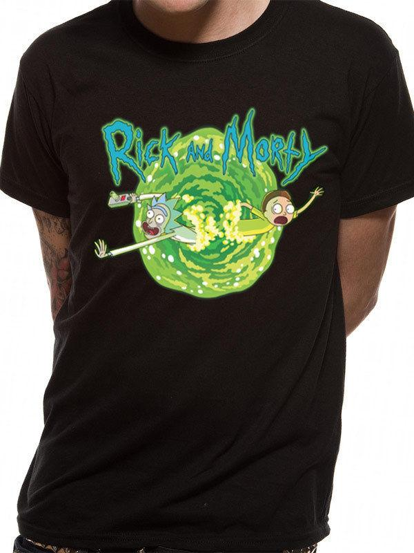 02182c92e42 Details Zu RICK AND MORTY  BLACK PORTAL T SHIRT Funny Casual Tee White Shirt  Tee Shirts From Luckytshirt