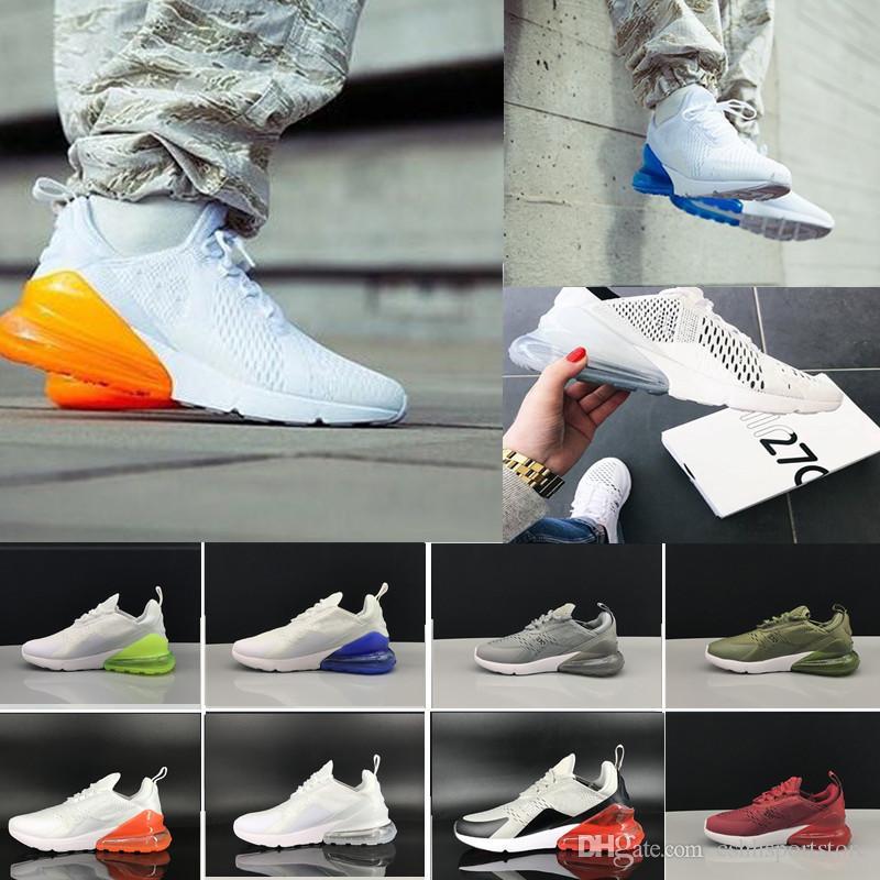 sports shoes c8e5a 3f686 Acheter Nike Air Max 270 27c Airmax En Gros Haute Qualité Hommes Femmes  Triple Noir 270 AH8050 Entraîneur Sport Chaussures Décontractées Flair  Sneakers ...