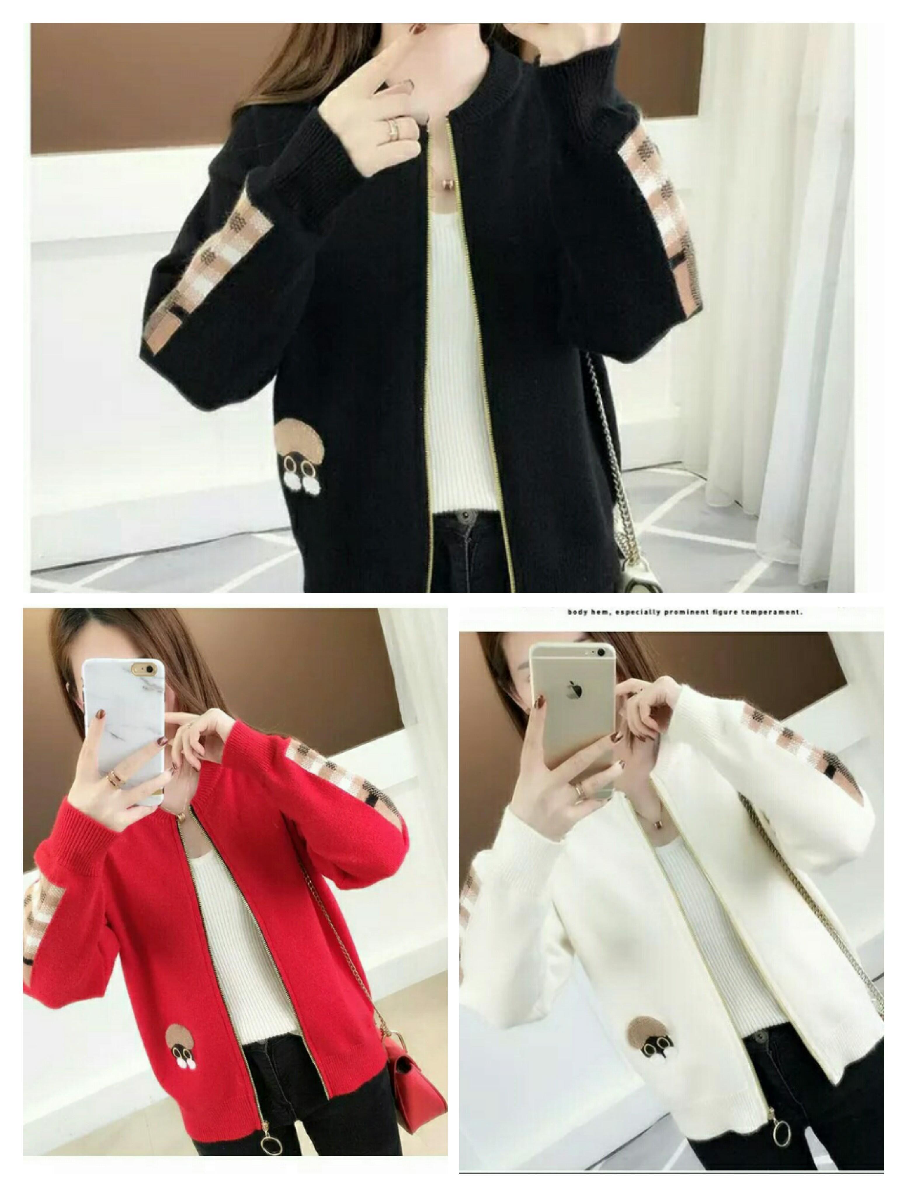 49260c276b Giacca corta, abbigliamento da donna, giacca ampia, cardigan lavorato a  maglia primavera e autunno, maglione esterno
