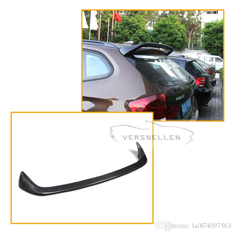 AC style Carbon Fiber Rear Trunk Spoiler Roof Wings For BMW X1 E84 2011 2012 2013