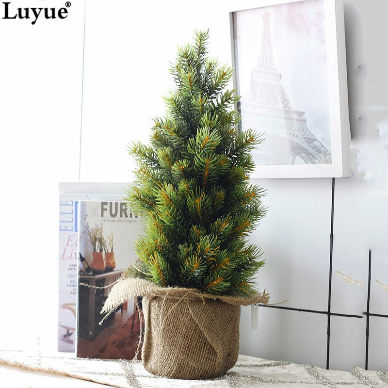 2019 Artificial Plant Pot Culture Mini Christmas Tree Zaka Style