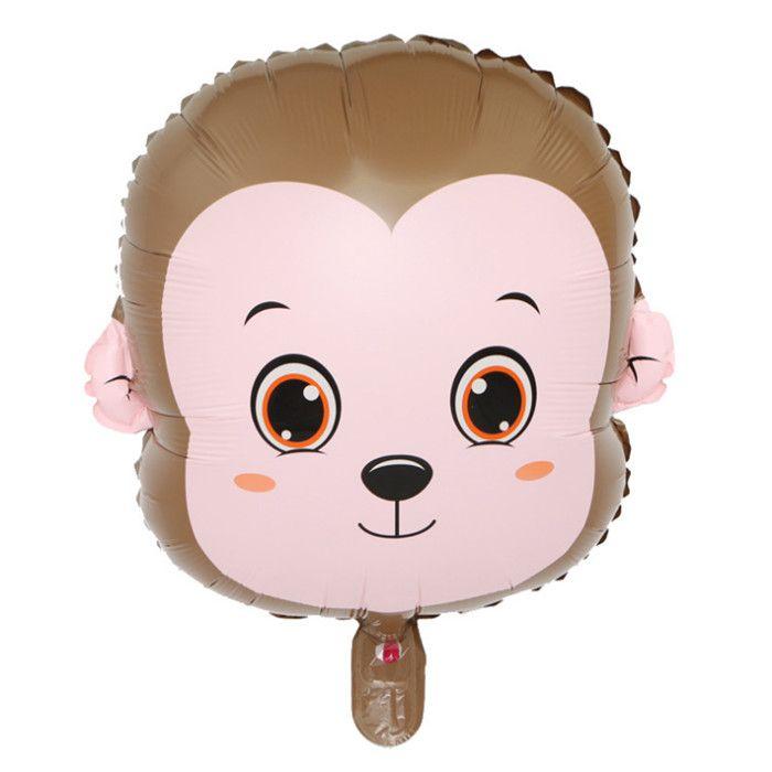Hayvan Kafa Folyo Balonlar Bebek Doğum Günü Partisi Domuz Ayı Köpek Tavşan Maymun Geyik Domuz Kafası Helyum Tema Doğum Günü Noel Deko ...