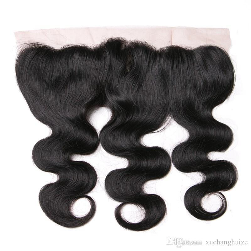 Brazilian Kinky Curly 13x4 Ear To Ear Pre Plucked Lace Frontal Closure With Baby Hair Remy Human Hair Free Part Natural Color