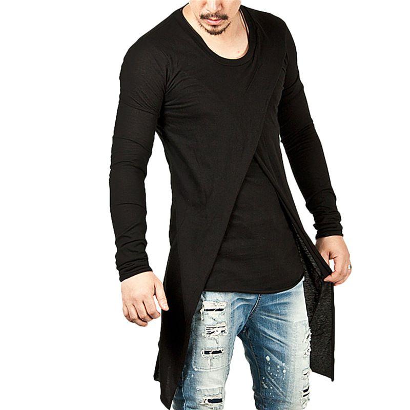 2262c7405d4 New Arrival Fashion Men Long T-shirts Spring Autumn Long Sleeve O ...