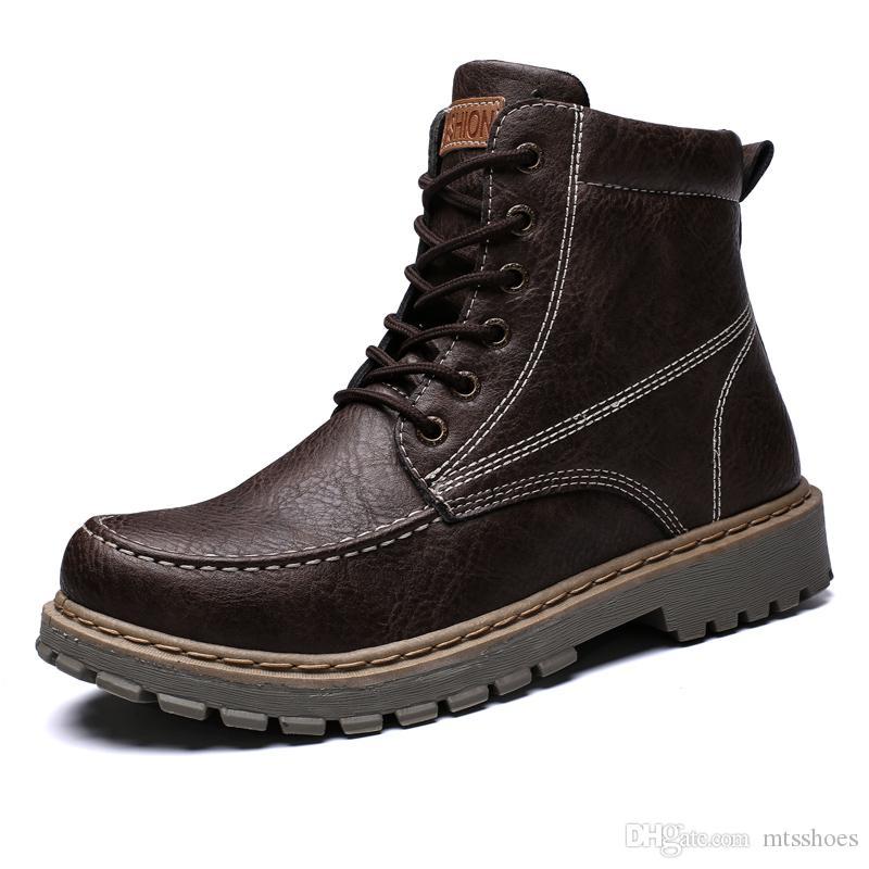 Femmes Cuir Bottes Haute Dr Hommes Qualité Et Acheter Pu Chaussures RP8qq