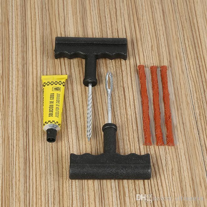 Car Bike Auto tubeless Tire Repair Kit Tyre Puncture Plug Repair Tool Kit Puncture Tubeless Tire Plug Repair Tool