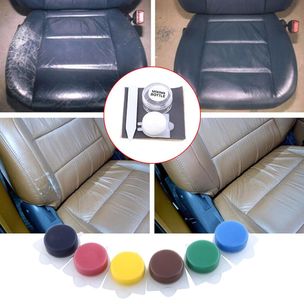 restore scratched leather car seats