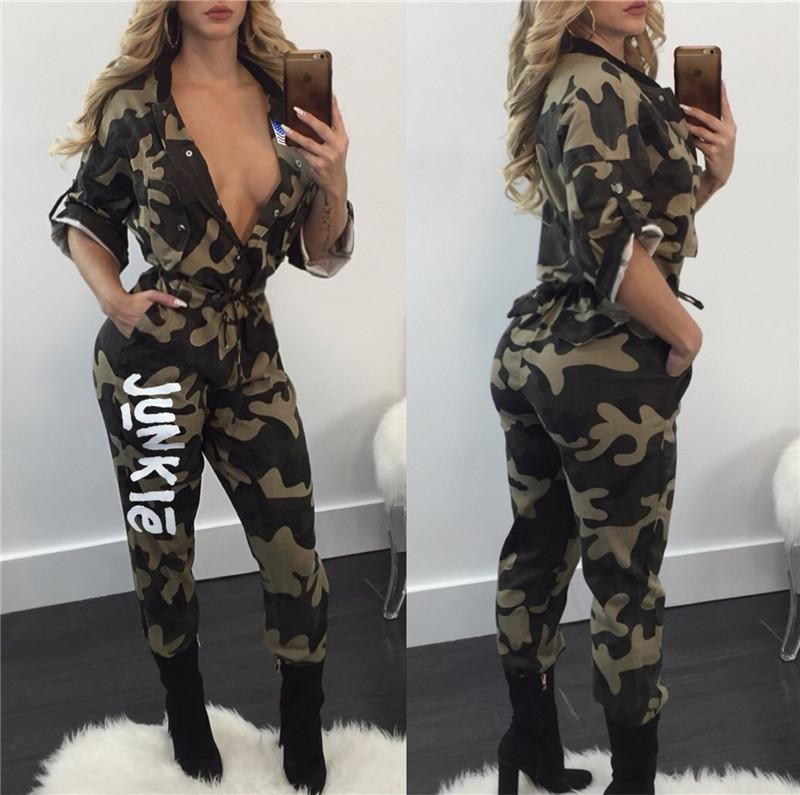 e2ab405e83c5 2019 Women Junkie Letter Comoflog Jumpsuit Short Sleeve Long Pants Jumpsuits  Fashionable Y3 Conjoined Suit JUNKIE With USA Flag One Piece Set Hot From  ...