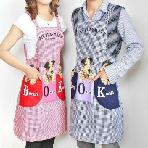 New Cute Dog Women Men Kitchen Restaurant Bib Cooking Aprons With ...