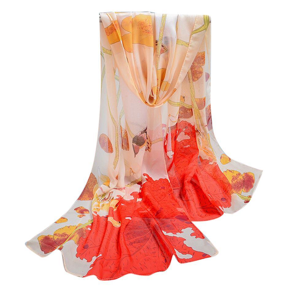 Acheter Foulard De Mode Femmes Foulards Feuille De Lotus Impression  Foulards En Mousseline De Soie Douce Mince Gros Femmes Châle Foulard En Soie  Pour Femmes ... 092811e778d