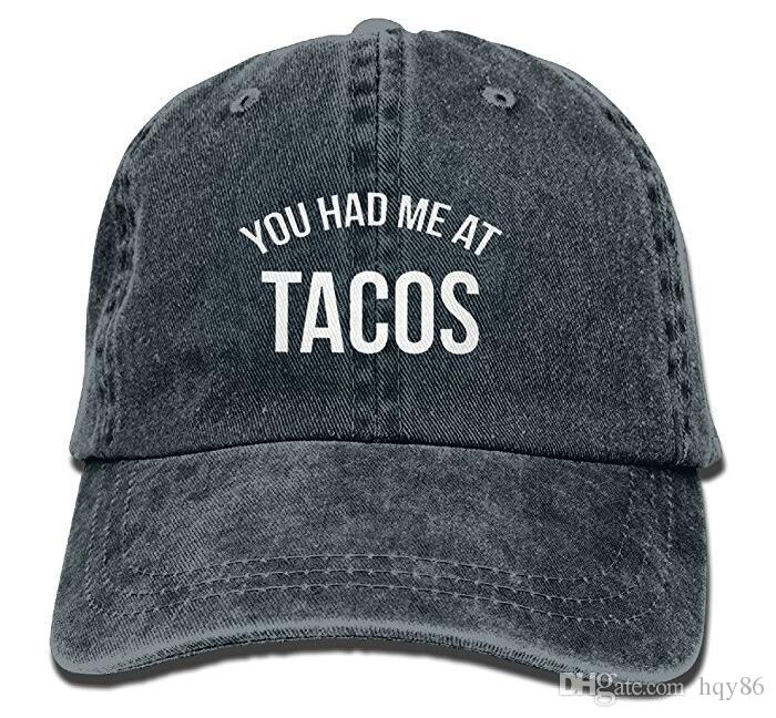 d0a539f47 You Had Me At Tacos Baseball Hat Men And Women Summer Sun Hat Travel  Sunscreen Cap Fishing Outdoors Multi-color optional