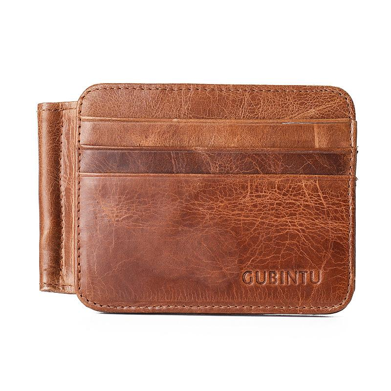 2019 UBINTU Genuine Leather Men Women s Money Purse Bifold Bill Money Clip  Cash Dollar Clamp Wallet From Fengyune 0092c9da9a
