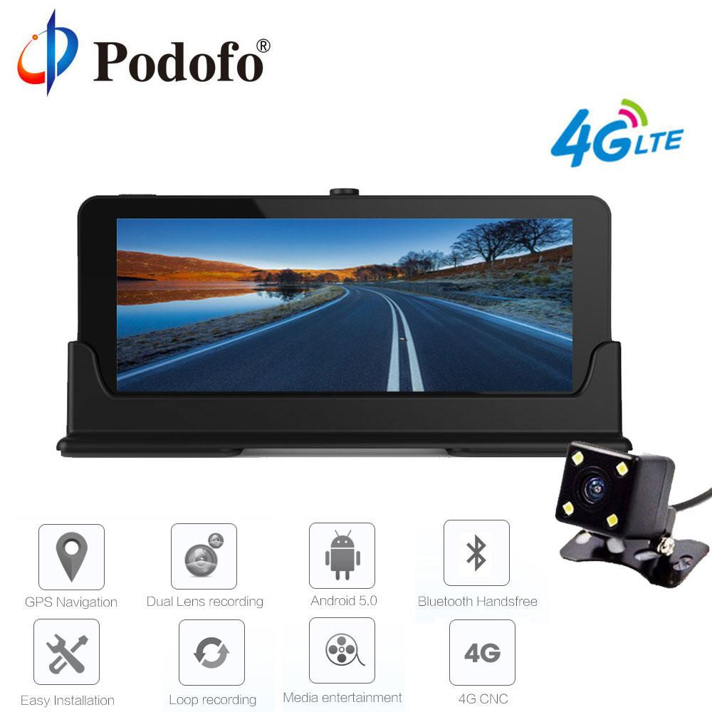 Podofo 4G 7 Car DVR GPS Navigation Bluetooth Android Automobile Dashcam on android liberty, android samsung, android navigation, android eclipse, android driver, android commander, android excel, android ring, android fusion,