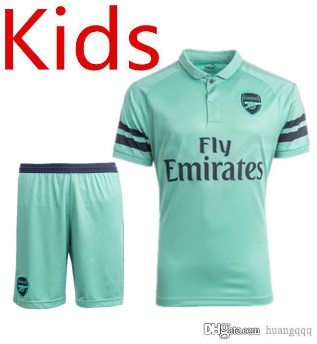 41a8ba95ef4 Arsenal 18-19 Season Owner Away Away Kids Jersey ARS GABRIEL RAMSEY ...