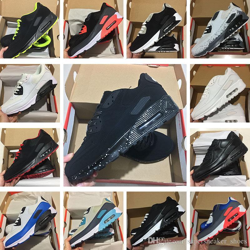 pretty nice b1ff9 20d4a Acquista Scarpe Da Ginnastica Da Uomo Classiche Nike Air Max 90 Sneakers Ultra  Scarpe Da Corsa Uomo E Donna Nero Rosso Scarpe Da Ginnastica Sportive  Bianche ...