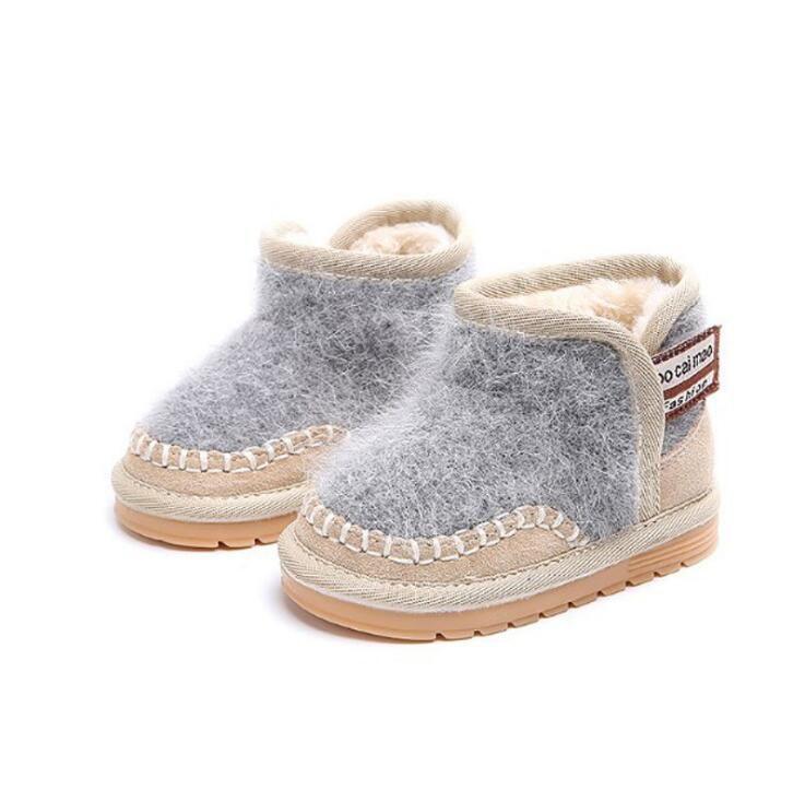 Acheter Bébé Bébé Chaussures 1 3 Ans Hiver Chaud Garçons Filles Fond Mou  Antidérapant En Peluche Bottes De Fourrure Un Enfants Bottes De Neige Pour  Les ... 7629c555df4f