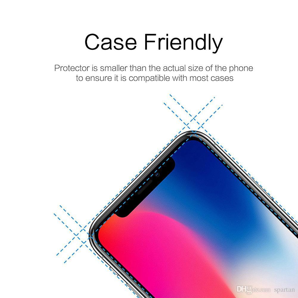 Für Iphone 11 Pro Max XS Max XR 8 7 Plus-Samsung A10E A20 LG Stylo 5 K40 Ausgeglichenes Glas Screen Protector 0,33 mm 2.5D 9H mit Papierpaket