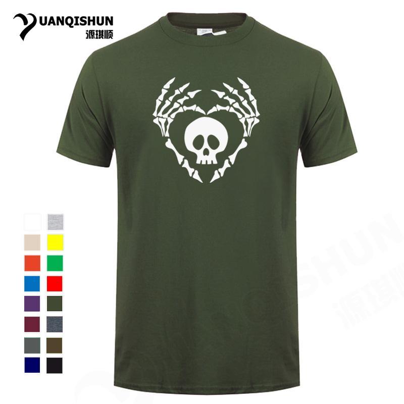 Compre Boutique Camiseta En Forma De Corazón Esqueleto Gesto Camiseta Cool  Hueso Mano Del Cráneo Impreso Camiseta Algodón Camisetas Harajuku Camiseta  Unisex ... 545d1ab97019d