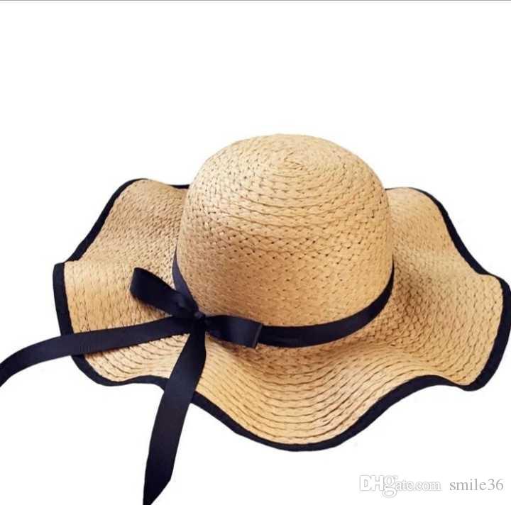 Compre O Novo Estilo Chapéu De Palha Feminino Verão Praia Chapéu Pode Ser  Dobrado Offshore Tour 88dfc683729